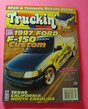 TRUCKIN'  MAGAZINE MARCH/1996..FIRST LOOK 1997 FORD F-150 CUSTOM..EVENTS