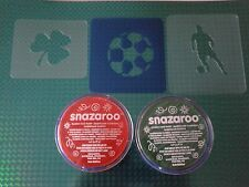 Irish football face painting set reusable many times Euros 2016 Ireland shamrock