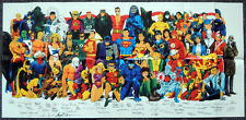 DC COMICS UNIVERSE REPRO 1987 POSTER - SIGNED BY DC ARTISTS