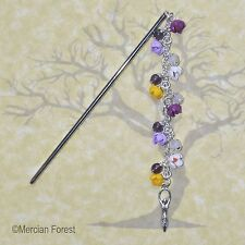 Life Springs Forth Crocus Hair Stick - Pagan Jewellery, Wicca, Imbolc, Clay