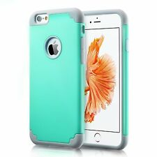iPhone 6plus Case, Color Slim Hybrid Dual Layer Silicone Bumper Case Hard Cover