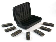 Hohner Piedmont Blues 7-Harmonica Pack with Case 7 Harps 7 different Keys