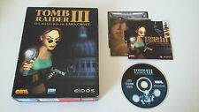 TOMB RAIDER III (3) LES AVENTURES DE LARA CROFT - PC - JEU PC BIG BOX COMPLET