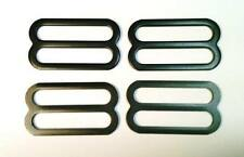 "4 Steel Adjustment Buckle Slides for 1-1/2"" Webbing Strap -  Black Painted Steel"
