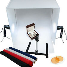 "Lusana Studio 24"" Photography Light Tent Backdrop Kit Cube Lighting In A Box"