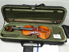 FF5) 4/4 FULL SIZE VIOLIN ACOUSTIC VIOLIN SET WITH CASE BOW ROSIN BRIDGE