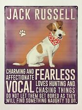 Jack Russell - Tin Metal Wall Sign