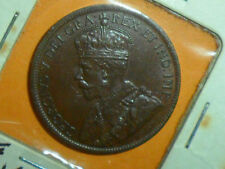 1917 CANADA KING GEORGE V LG. CENT DARK BROWN TONE AU SHIPS $2.99USA $13.99 INTL