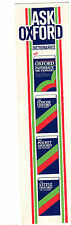 Vintage Ask Oxford Dictionary English Book Language Course Bookmark Gift