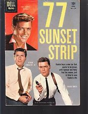 77 SUNSET STRIP #1159 DELL/ 4-COLOR  1960 VG+  MOVIE/TV  -EFREM ZIMBALIST, JR.
