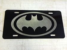 BATMAN LOGO Car Tag Diamond Etched on Aluminum License Plate