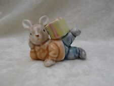 Vintage Small Peter Rabbit with Gift Box Porcelain Figurine