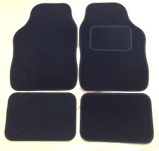 CAR FLOOR MATS FOR MINI COOPER CLUBMAN ONE FIRST S - BLACK WITH BLACK TRIM