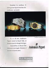 Publicité Advertising 1989 Les Montres Royal Oak Audemars Piguet