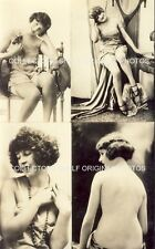 RISQUE PHOTO SHEET 4 IMAGES SINGLE SHEET c1920s Original Photos CORONA NUDE