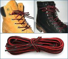 Red Black 150cm Long Hiking Trekking Shoe Work Boot Laces Trek Hike 6/7 Eyelets