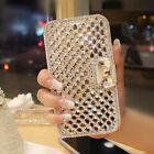 Bling Diamonds PU Leather Flip Wallet Cases Covers For iPhone6 5S Samsung Galaxy