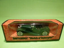 YESTERYEAR  1:43  MATCHBOX -  Y-1  GREEN  JAGUAR SS-100  - GOOD CONDITION IN BOX