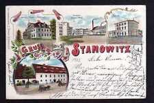 108350 AK Stannowitz Litho 1902 Bahnhof Brauerei Schloss Baron von Richthofen Po