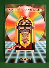 Original Wurlitzer 1015 OMT CD Jukebox Color Brochure Flyer