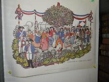 Stampa - Print Plantation de l'arbre de la liberté -Moulin à Papier Vallis Claus