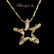 L063 Lucky Star Gold Plated Necklace with Swarovski Crystal