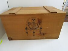 Wood The Oneida Indian Tribal Nations trunk storage box foot locker crate WI 21