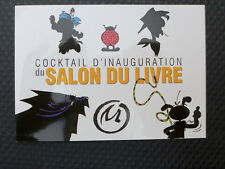 Invitation cocktail Salon du Livre Yakari Morris Marsu