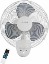 "NEW HOMEBASIX FW40-S1 3 SPEED 16"" OSCILLATING WALL MOUNT FAN WITH REMOTE 8603078"