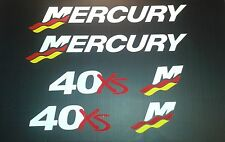 Mercury XS Racing Outboard 25 - 275 hp Reproduction Decal marine Vinyl Decals