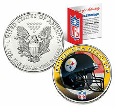 PITTSBURGH STEELERS 1 Oz .999 Fine Silver American Eagle $1 US Coin NFL LICENSED