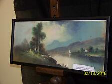"""""""Hudson River School""""*William Henry Chandler* Major Artist Pastel Landscape"""