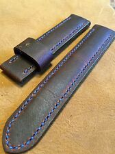 Handmade Distressed Leather Men's watch strap 22mm Brown Band with Steel buckle