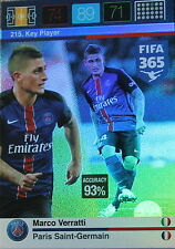 Panini Adrenalyn XL Fifa 365 Karte Nr.215 Key Player - Marco Verratti
