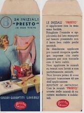 # BOCCASILE, BUSTINA PUBBLICITARIA  tinta PRESTO