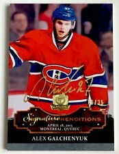 13-14 THE CUP ALEX GALCHENYUK ROOKIE SIGNATURE RENDITIONS /35