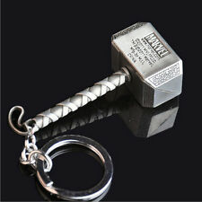 New Marvel The Avengers Thor Thor's Hammer Metal Keyring Keychain Silver Color