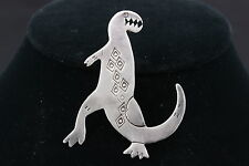 STERLING SILVER A WOOD DINOSOUR BROOCH 925 FINE 3714