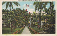 Old postcard A Glimpse of Royal Palm Hotel, Fort Myers, FL