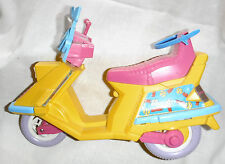 MATTEL VINTAGE Scooter Bike Motorcycle 1989  Pink and Yellow  USED