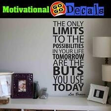 Motivational Quotes Wall Decal, Les Brown Motivational, Inspirational Decals