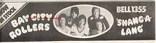 BAY CITY ROLLERS Shang a Lang 1974 UK Press ADVERT 12x4 inches