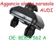 Clip Aggancio Aletta Parasole AUDI A1 A3 A4 A5 Q3 Q5  A Nero clips gancio