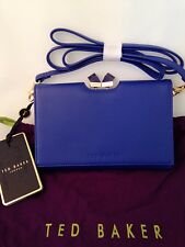 Ted Baker SQR Crystal Frame Xbody Purse Bright Blue RRP£119