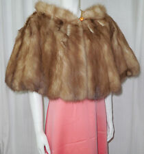 VTG Stone Marten Sable real fur stole wrap shrug cape capelet