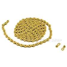 KMC X11SL Chain,116 Link with Missing Link , Gold