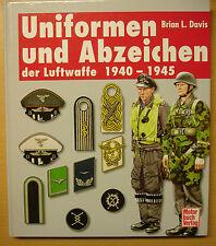Uniformen und Abzeichen der Luftwaffe 1940-1945 Ausrüstung Bekleidung Davis Buch