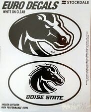 Boise State Broncos 2-Pack EURO STYLE Oval Home Auto Decals Sticker University