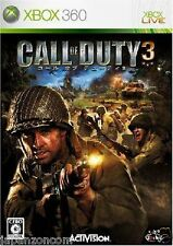 Used Xbox 360 Call of Duty 3 MICROSOFT JAPAN JAPANESE JAPONAIS IMPORT