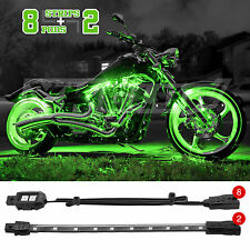 10 pc Bright LED Motorcycle Accent Light Kit Yamaha Honda Kawasaki Trike - GREEN
